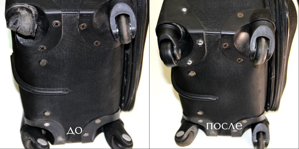 Замена колеса на чемодане