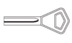 Изготовление полукруглых ключей