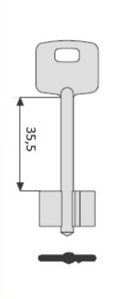 CISA к сувальдным замкам (35,5 мм) CI-8G