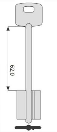 Изготовление сувальдного ключа CISA