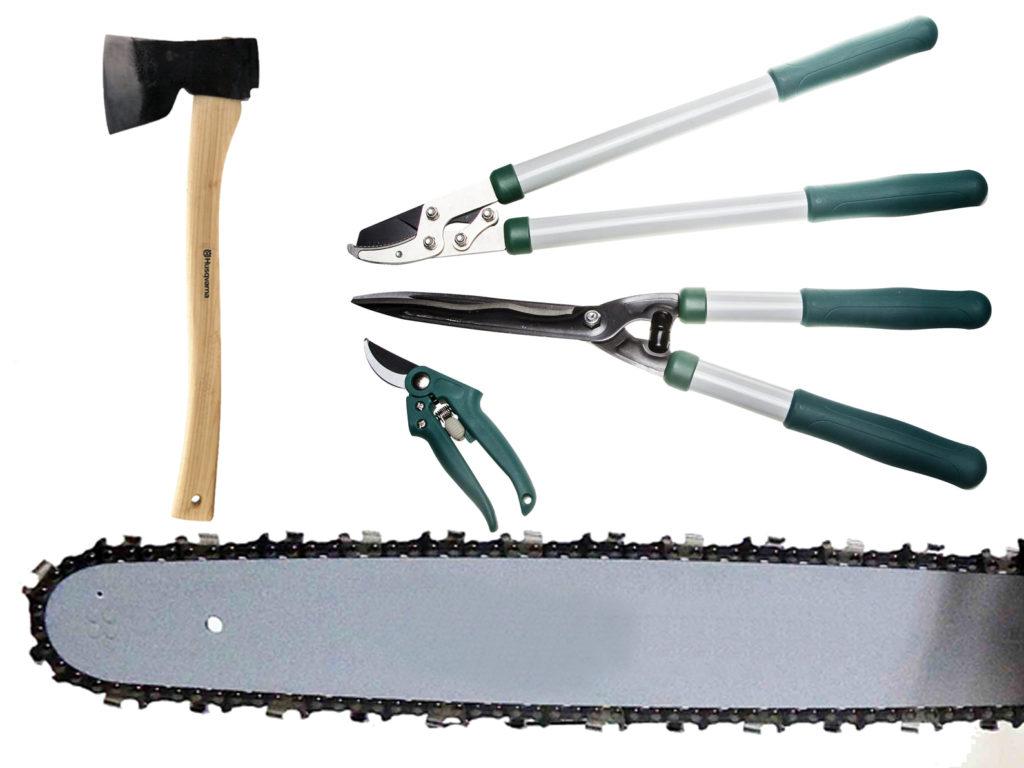 заточить садовый инструмент